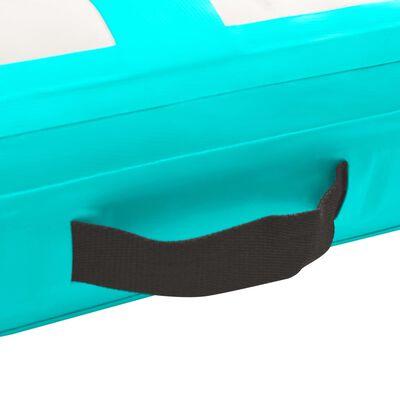 vidaXL täispumbatav võimlemismatt pumbaga 300x100x20 cm PVC roheline