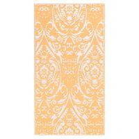 vidaXL õuevaip, oranž ja valge, 190 x 290 cm, PP