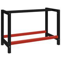 vidaXL tööpingi raam metall 120 x 57 x 79 cm, must ja punane