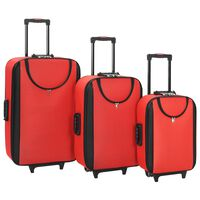 vidaXL pehmed kohvrid, 3 tk, punane, oxford-kangas