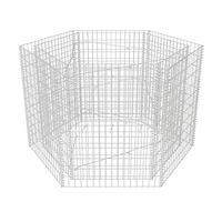vidaXL kuusnurkne gabioon-taimelava, teras 160 x 140 x 100 cm