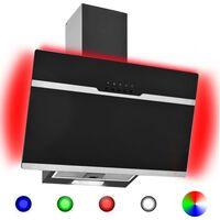 vidaXL RGB pliidikubu LED 60 cm roostevaba teras ja karastatud klaas