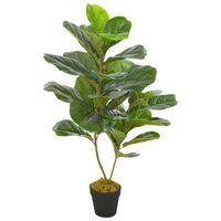 vidaXL kunsttaim lüüra-viigipuu potiga, roheline, 90 cm