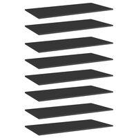 vidaXL riiuliplaadid 8 tk, must, 80x20x1,5 cm, puitlaastplaat