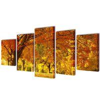 Seinamaalikomplekt vahtrapuudega, 100 x 50 cm