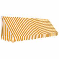 vidaXL bistroo varikatus, 350 x 120 cm, oranž ja valge