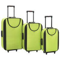 vidaXL pehmed kohvrid, 3 tk, roheline, oxford-kangas