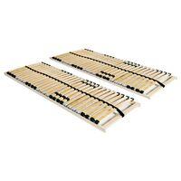 vidaXL voodi aluspõhjad, 2 tk, 28 liistu, 7 piirkonda, 70 x 200 cm