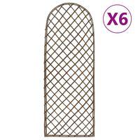 vidaXL võreaiad 6 tk, 30 x 120 cm, paju