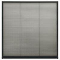vidaXL plisseeritud putukavõrk aknale alumiinium antratsiit 120x120 cm