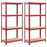 vidaXL hoiuriiulid 2 tk punane, 80 x 40 x 160 cm teras ja MDF