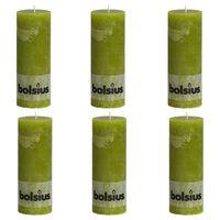 Bolsius maalähedased sammasküünlad 6 tk 190 x 68 mm samblaroheline