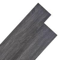 vidaXL PVC-st põrandalauad 4,46 m², 3 mm must