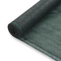vidaXL tenniseväljaku võrk, HDPE, 2 x 50 m, roheline