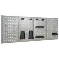 vidaXL seinale paigaldatav pulkadega paneel, 4 tk, 40 x 58 cm, teras