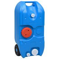 vidaXL ratastega veepaak matkamiseks 40 l, sinine
