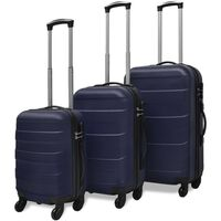vidaXLi kolmeosaline kõvakattega kohvrite komplekt sinine