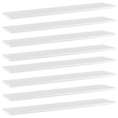 vidaXL riiuliplaadid 8 tk, valge, 100x20x1,5 cm, puitlaastplaat
