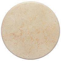 vidaXL lauaplaat, kreemjas, Ø 50 x 2,5 cm, marmor
