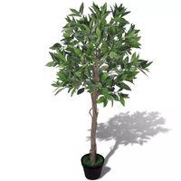 Kunstlik loorberipuu potiga, 120 cm