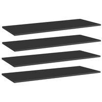 vidaXL riiuliplaadid 4 tk, must, 100x40x1,5 cm, puitlaastplaat