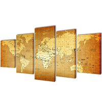 Seinamaalikomplekt lõuendil maakaart, 200 x 100 cm