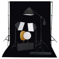 vidaXL fotostuudiokomplekt valgustuse, taustapildi ja reflektoriga