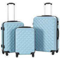 vidaXL kõvakattega kohver 3 tk sinine ABS