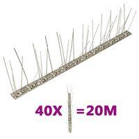vidaXL 5-realised roostevabast terasest linnupiigid, 40 tk, 20 m