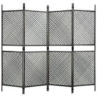vidaXL 4 paneeliga ruumijagaja, polürotang, antratsiit, 240 x 200 cm