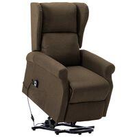 vidaXL püstine tool, pruun, kangas