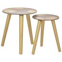 vidaXL üksteise alla mahtuvad lauad 2 tk, kuldne 40x45 cm/30x40 cm MDF