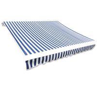 vidaXL varikatuse riie sinine ja valge 4 x 3 m (ilma raamita)