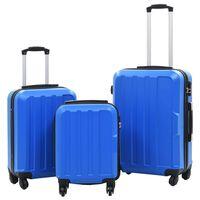 vidaXL kõvakattega kohver, 3 tk, sinine, ABS