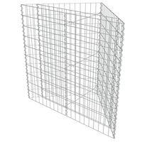 vidaXL gabioon-taimelava, tsingitud teras, 75 x 75 x 50 cm