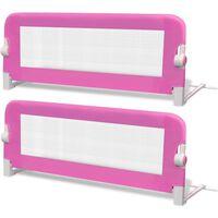 vidaXL voodiäär väikelapse voodile, 2 tk, 102 x 42 cm, roosa