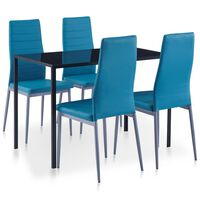 vidaXL viieosaline söögitoakomplekt, sinine