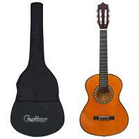 "vidaXL klassikaline kitarr algajatele ja lastele kotiga 1/2 34"""