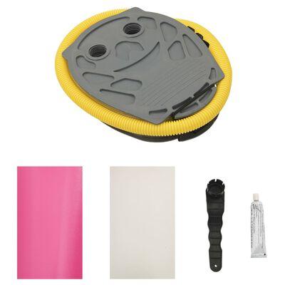 vidaXL täispumbatav võimlemisrull pumbaga 120x90 cm PVC roosa, Roosa