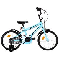 vidaXL laste jalgratas 16'', must ja sinine