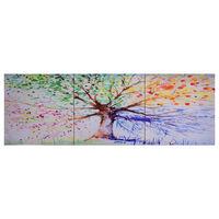 vidaXL seinamaalikomplekt lõuendil, vihmane puu, värviline 120 x 40 cm