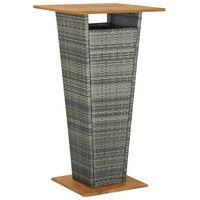 vidaXL baarilaud, hall 60 x 60 x 110 cm, polürotang ja akaatsiapuit
