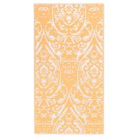 vidaXL õuevaip, oranž ja valge, 120 x 180 cm, PP