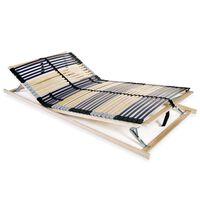 vidaXL liistudega voodi aluspõhi, 42 liistu, 7 piirkonda, 120 x 200 cm