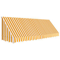 vidaXL bistroo varikatus, 400 x 120 cm, oranž ja valge