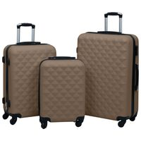 vidaXL kõvakattega kohver 3 tk pruun ABS