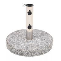 vidaXL ümar päevavarju alus, graniidist, 22 kg