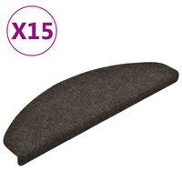 vidaXL isekleepuv trepivaip 15 tk, helepruun, 65x21x4 cm, aastehnika