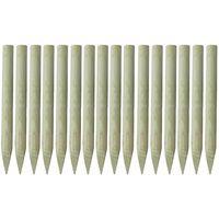 vidaXL terava otsaga aiapostid 16 tk, immutatud puit 100 cm