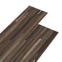 vidaXL PVC-st põrandalauad 5,26 m², 2 mm triibuline pruun